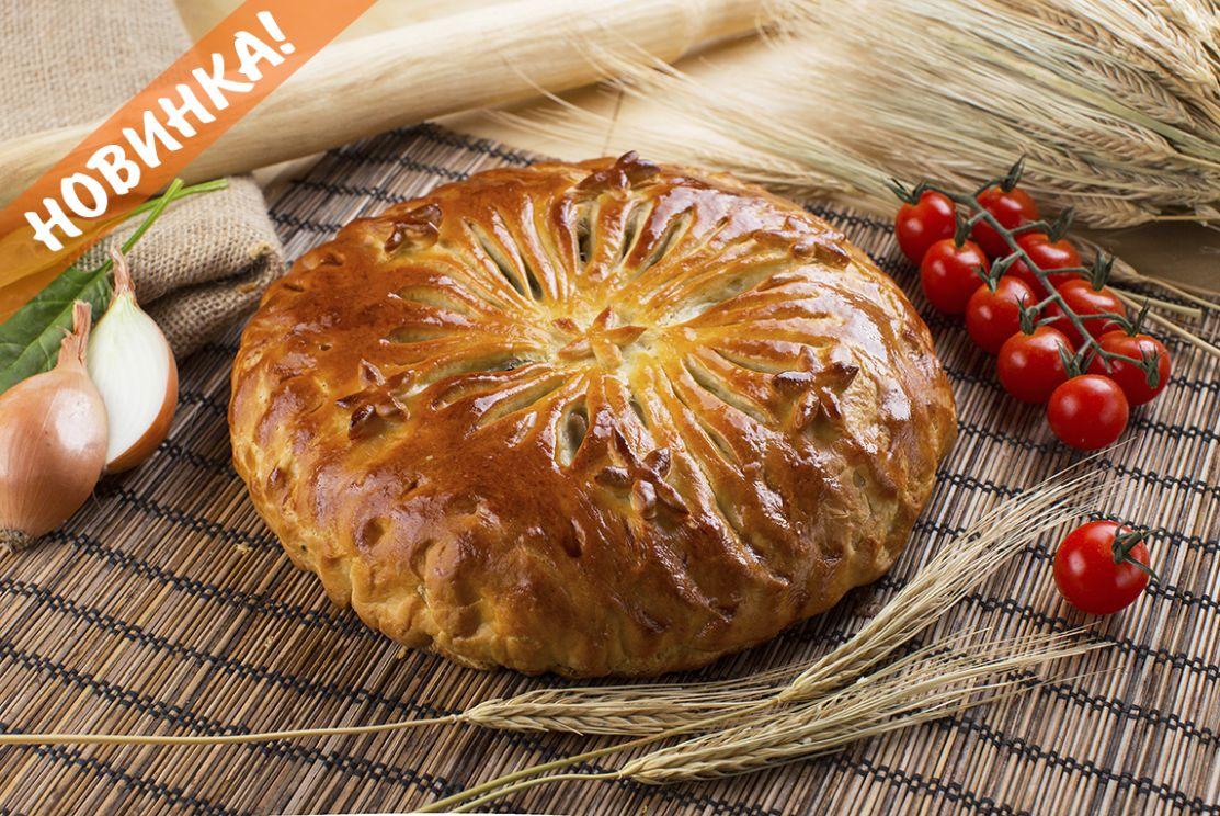 Пирог С индейкой, зеленью и сыром
