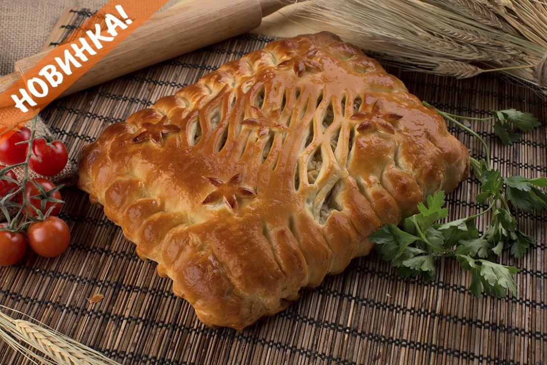 пирог с капустой и мясом
