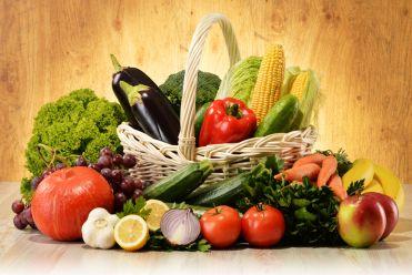 Стейк из индейки со печеными овощами